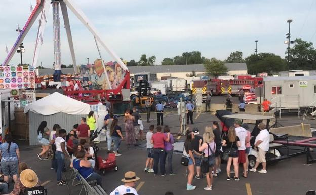 Lugar del accidente en la feria estatal de Ohio./Reuters