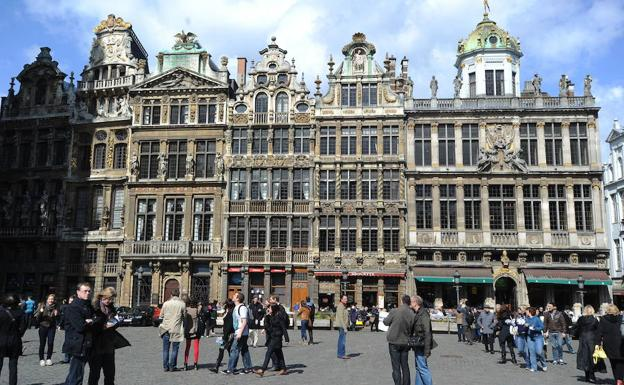 Grand Place, centro neurálgico de Bruselas (Bélgica).