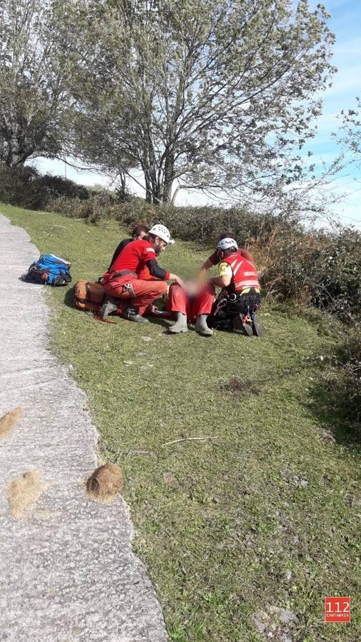 Un espeleólogo sufre un accidente en la Torca de La Sima La Gándara